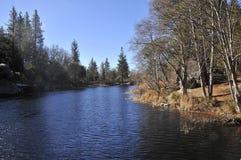 在湖赫米特的看法在南加州 免版税库存照片