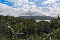 在湖阿雷纳尔的风景看法在哥斯达黎加 免版税库存照片