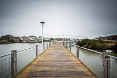 在湖霍莉的木板走道,在弗吉尼亚海滩,弗吉尼亚 免版税库存图片