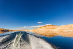 在湖鲍威尔的划船 库存照片