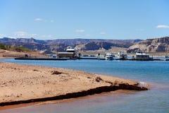 在湖鲍威尔的码头 库存图片