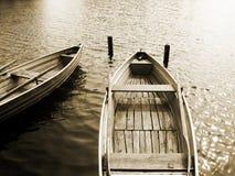 在湖(11)的小船 库存图片