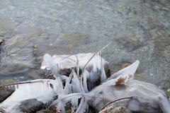在湖14的冻水 免版税库存图片