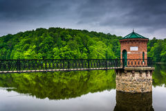 在湖Antietam的暴风云,在读书附近,宾夕法尼亚 免版税库存照片