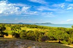 在湖Balaton的横向 免版税库存图片