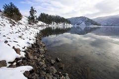 在湖Coeur d'Alene的Higgens点 免版税库存照片