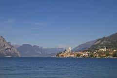 在湖Garda的Malcesine 免版税图库摄影