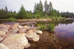 在湖Itasca的密西西比上游源头 免版税库存图片