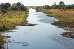 在湖Kissimmee国家公园,佛罗里达的Zipprer运河 库存图片