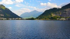 在湖lucerene的一天 库存照片