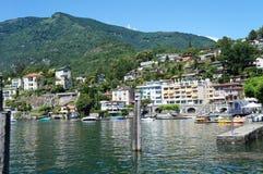 在湖Maggiore的Ascona 库存图片