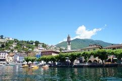 在湖Maggiore,瑞士的Ascona 免版税图库摄影