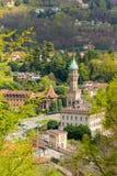 在湖Orta, 2个星米其林意大利人resta的豪华别墅Crespi 库存图片