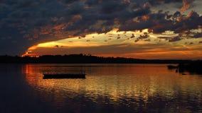 在湖Pfaeffikon的晚上 库存照片