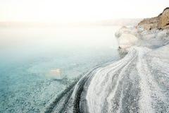 在湖Salda的日出 库存照片