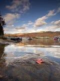 在湖Tremblant的秋天 免版税库存图片