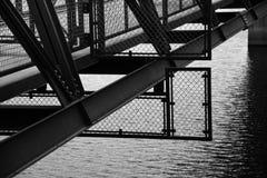 在溢洪道水坝的细节 免版税库存图片