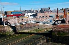 在滑动式造船架的桥梁 免版税库存照片