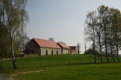 在滑铁卢的Château d ` Hougoumont 比利时 免版税库存图片