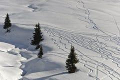 在滑雪之后 图库摄影