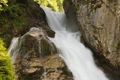 在滑雪胜地坏Gastein,奥地利,土地萨尔茨堡的瀑布 库存图片