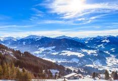在滑雪胜地布雷萨诺内im Thalef的倾斜 蒂罗尔 库存图片