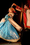在演员、独奏者、国家戏院俄国人歌曲的歌手和舞蹈家阶段的表现  免版税库存图片