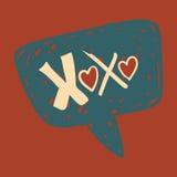 在演讲泡影的爱消息 免版税库存图片