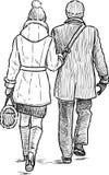 在漫步的夫妇 免版税库存照片