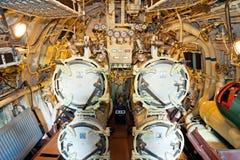 在潜水艇里面的鱼雷ventages 免版税库存照片