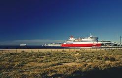 在澳大利亚和塔斯马尼亚岛之间的轮渡 免版税库存照片