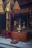 在澳门瓷的阿马中国寺庙地标 免版税库存照片