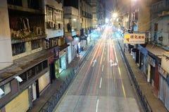 在澳门的街道上的红绿灯 库存照片