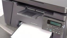 在激光打印机的打印文件 影视素材