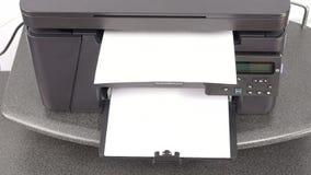 在激光打印机的打印文件 股票视频