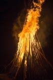 在瀑布Shipot附近的Hutsulstka篝火 库存照片