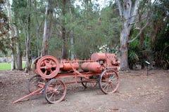在灌溉博物馆, City,加利福尼亚国王的历史的古色古香的灌溉设备 库存图片