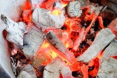 在火以后的炭烬 库存图片