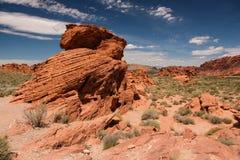 在火国家公园谷的蜂箱岩石  库存图片