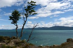 在火土地海岛上的湖Fagnano  免版税库存图片