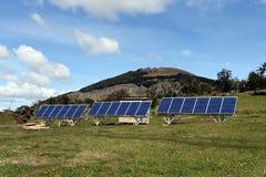 在火地群岛的太阳电池板 图库摄影