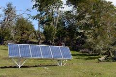 在火地群岛的太阳电池板 免版税库存照片