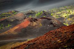 在火山的爆发以后 库存图片