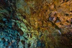 在火山里面 免版税库存图片