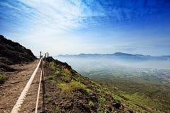 在火山维苏威侧面  免版税图库摄影