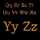在火火焰2的字母表信件 免版税库存图片