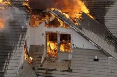 在火焰之上 免版税库存照片