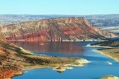 在火焰状峡谷全国度假区的红色峡谷 免版税库存照片