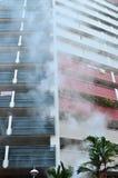 在火的公寓 免版税库存照片