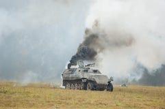 在火的坦克 库存图片